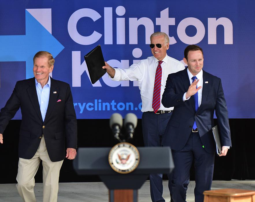 Patrick Murphy with Bill Nelson and Joe Biden